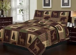 image of queen bedding rustic cabin lodge deer style