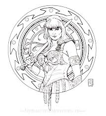art nouveau portrait of xena warrior princess for my lovely friend s birthday i never got to watch the show didn t get to watch much tv growing up but i