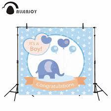 <b>Allenjoy photography backdrop</b> Blue Hearts Little <b>elephant</b> Balloon ...