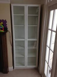 ikea billy display unit bookcase with glass front doors 2 available