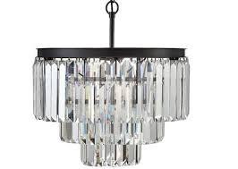 odeon crystal glass fringe chandelier