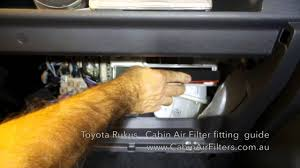 How to replace a cabin air filter on a Toyota Rukus - YouTube
