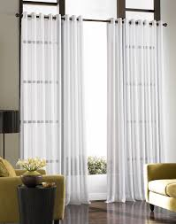 Contemporary White Curtain Ideas For Large Windows Modern Living Room