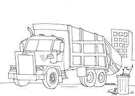 Garbage Truck Coloring Pages Free Printable Recycling Truck Coloring