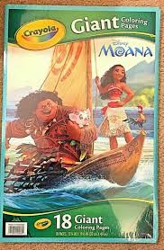 Giant coloring pages from crayola offer kids poster size coloring fun in a portfolio format that is easy for sharing. Crayola Giant Coloring Pages Disney S Moana Features 18 W For Sale Online Ebay