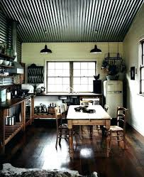 corrugated metal ceiling ideas photo 1 of 6 steel basement met rustic bathroom with accents in corrugated metal ceiling