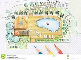 Architect Designs landscape architect designs backyard plan with pool stock photo 2134 by uwakikaiketsu.us
