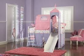 Pink Childrens Bedroom Pink Scheme Kid Bedroom White Cupboard Pink Bunk Bed White Stair