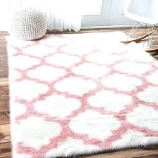 pink faux fur rug pink faux sheepskin rug cozy soft and plush faux sheepskin trellis pink faux fur rug