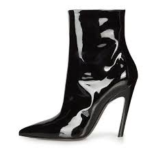 cat woman sti boots patent leather pointy toe booties image 1