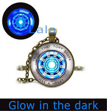 Iron Man Glowing Necklace Glow In The Dark Necklace Arc