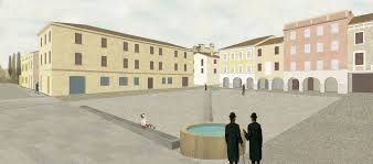 courtesy urban office. Office X Proposal For The Piazza Leoni In Torrechiara. Image Courtesy Of  Urban Office R