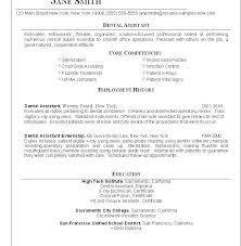Resume Format For Dentist Orthodontist Resume Resume Template Dental ...