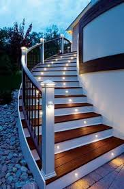 outdoor stair lighting lounge. energy efficient led stair lights by trex deck lighting looks good and serves a great outdoor lounge