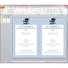 Baby Boy Announcements Templates Baby Boy Announcement Template Microsoft Office Power Point