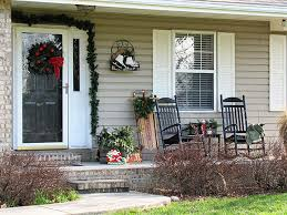 festive diy winter front porch decor including lots of vintage and thrift decorating ideas