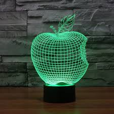 cool mood lighting. the new apple led lights colorful 3d stereoscopic visual illusion light touch lamp night usb desk cool mood lighting y