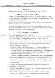 chronological resume sample manager pupil transportation training sample transportation management resume