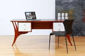 timber office desks. Hans Solid Jarrah Timber Writing Desk With White Lacquer Front Drawers Office Desks