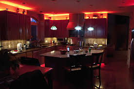 led above cabinet lighting. orange led over kitchen wall cabinet lighting and 3 pendant lamps island with led above o