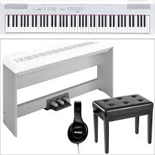 yamaha 88 key digital piano. yamaha p-115 - 88-key digital piano studio bundle kit (white) 88 key