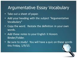 argumentative essay journal entry write this as you journal  argumentative essay vocabulary take out a sheet of paper