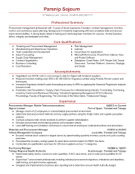 Sample Resume Of Purchase Manager Resume For Study