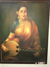 raja ravi varma s paintings lady with sithare