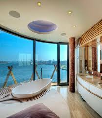 view in gallery unique bathroom design and bathtub make most of the view on offer design baustudio