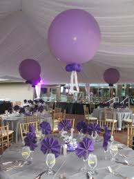 Elegant Party Decorations Jumbo 3 Foot Balloons Made A Simple Yet Elegant Statement Above A