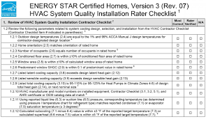 Contractor Checklist Review Parameters Related To System Cooling Design Selection And