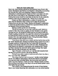 much ado about nothing essay gcse english marked by teachers com  much ado about nothing page 1 zoom in