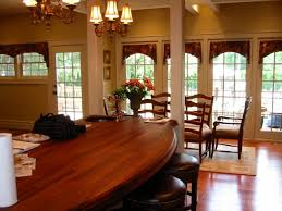 Arch valances on French doors