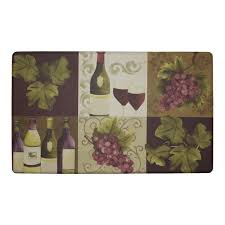 Cushioned Floor Mats For Kitchen Chef Gear Wellness Wine Anti Fatigue Cushioned Chef Kitchen Mat