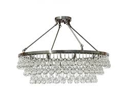 celeste flush mount glass drop crystal chandelier chrome