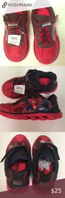 Spiderman Light Up Shoes Size 13 New Kids Marvel Spider Man Tennis Light Up New Kids Light Up