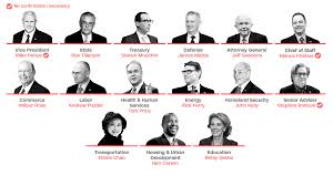 Us Cabinet Secretaries White Males Dominate Donald Trumps Top Cabinet Posts