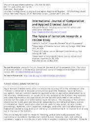 the future of terrorism research a review essay pdf the future of terrorism research a review essay pdf available