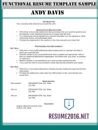 functional resume format 2016 resume format tips