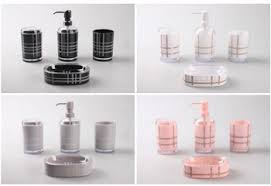 black and pink bathroom accessories. Bathroom: Magnificent 15 Chic Pink Bathroom Accessories Set Home Design Lover In Fashion From Black And T