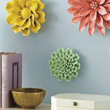 wall decor beautiful ceramic flower wall decor ceramic