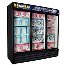 master bilt s mbgfp74 hg glass door freezer merchandiser