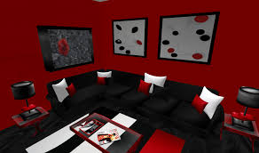 Living Room With Black Furniture Red Black And White Living Room Set Living Room Design Ideas