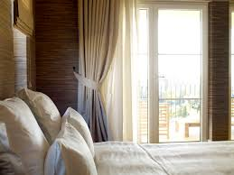Bedroom Drapery Ideas Photos Grey Pattern Linen Cotton Bedding - Small bedroom window ideas