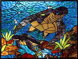 turtle grand central stained glass graphics