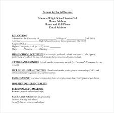 High School Resume For College Template Amazing Resume High School Template High School Academic Resume Template