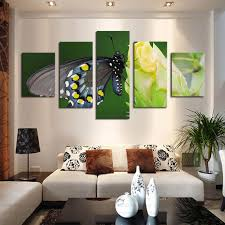 2018 5 panel canvas art butterfly flower painting modern fashion living room decor wall art unframed painting from tian7777777 20 11 dhgate com on green wall art decor with 2018 5 panel canvas art butterfly flower painting modern fashion