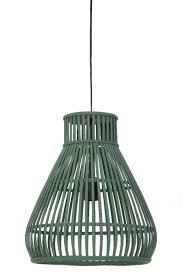 Lightliving Hanglamp Timaka Rotan Groen M 43xø37 Wantsneeds