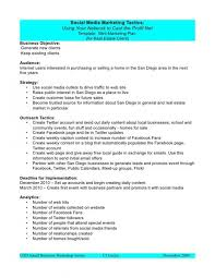 Social Media Proposal Template Social Media Proposal Marketing Plan Template Marketing