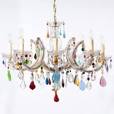 colorful chandelier lighting. Astounding Funky Chandelier Modern Chandeliers For Dining Room White Background Colorful Light Hinging Lighting C